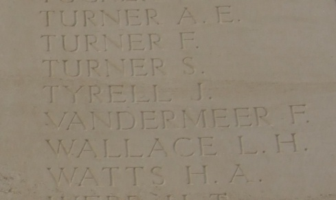 Inscription from Loos Memorial. photograph courtesy www.britishwargraves.co.uk